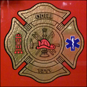 Odell, IL Fire & Rescue Logo